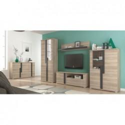 Rodzinny zestaw jadalniany drewniany stół i krzesła 6 szt. 160/90/200 CM
