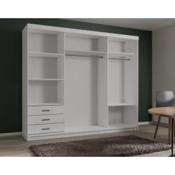 Standardowe wnętrze szafy Szafa VIDA z trzema lustrami