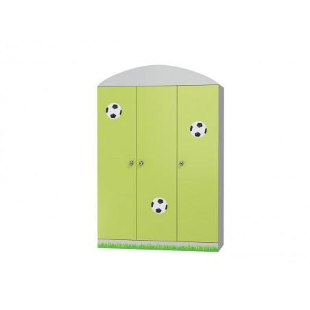Szafa 3-drzwiowa do pokoju dziecięcego FOOTBALL