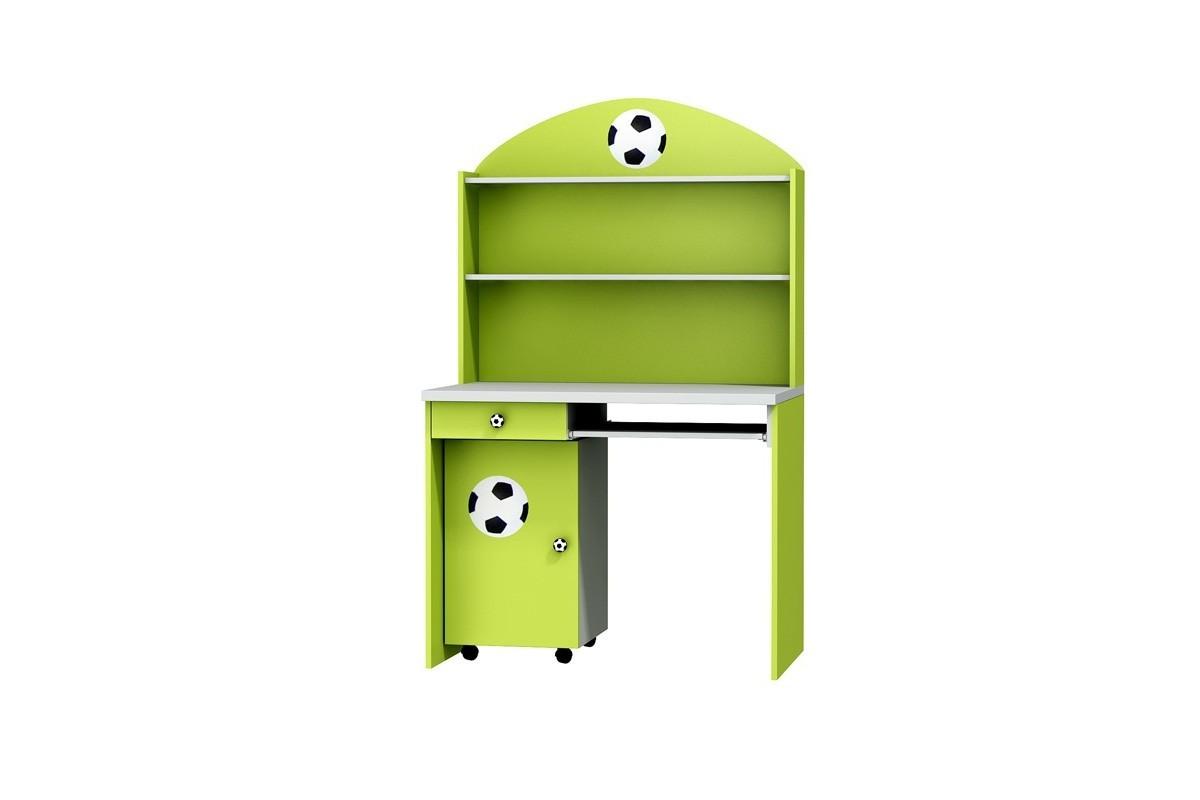 Biurko z kontenerkiem i nadstawką do pokoju dziecięcego FOOTBALL