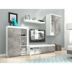 Meblościanka RITA biały + jasny atelier beton