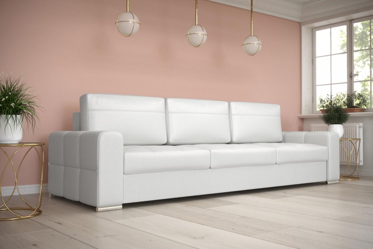 Sofa NERO DL biała eco skóra