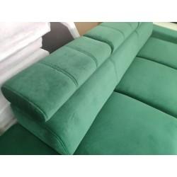 Sofa REY III zielony- realne zdjęcie przybliżenie Sofa REY III turkus