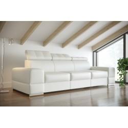 Sofa REY III biała eco skóra Sofa REY III turkus