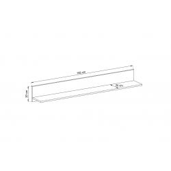 Schemat wymiarów półki Zestaw mebli ENJOY
