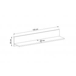 Półka P155 - wymiary Zestaw mebli SILVER I
