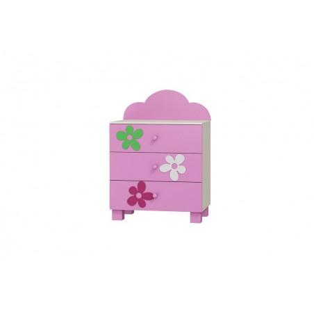 Komoda 3 szuflady FLOWER Baby