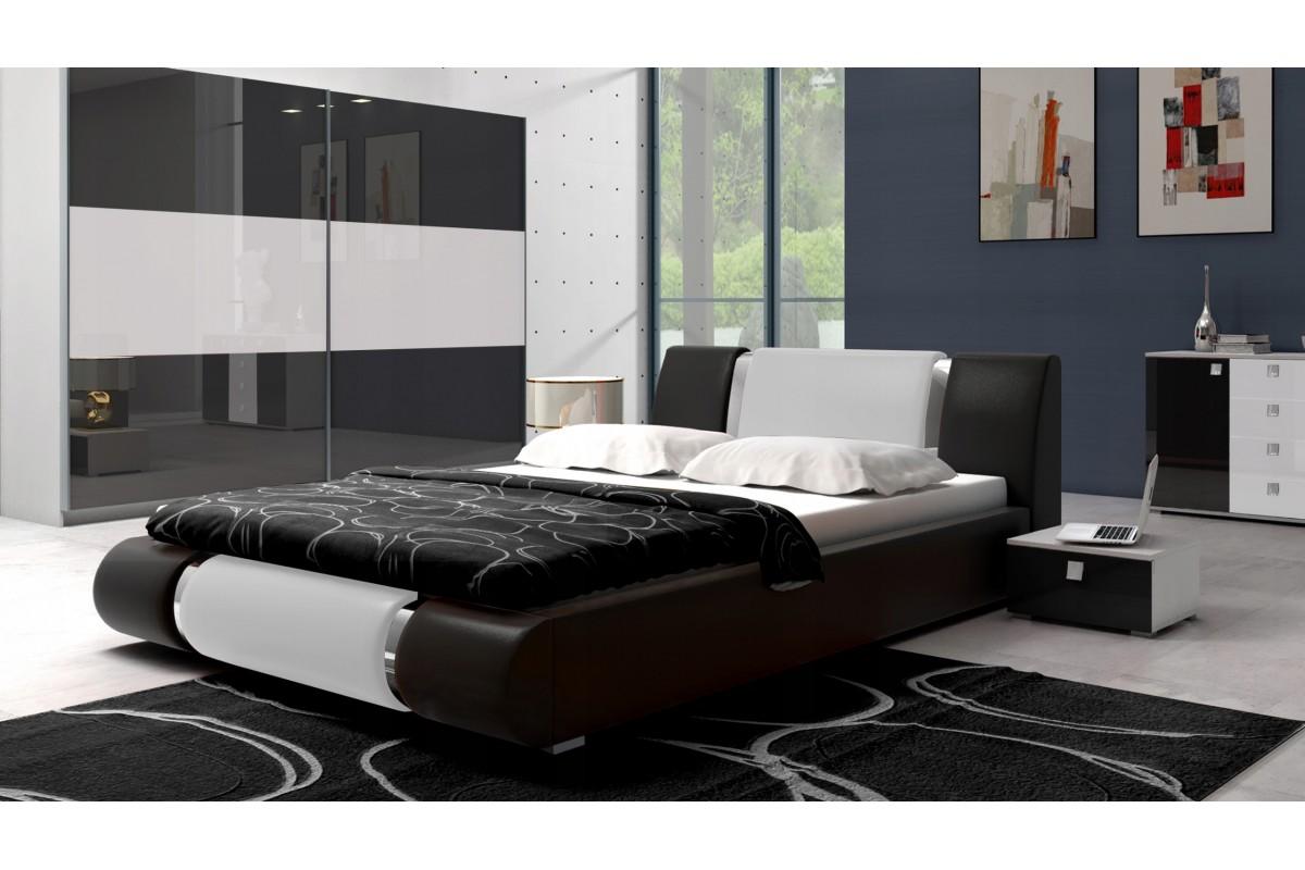 Łóżko LUXURY czarno-białe
