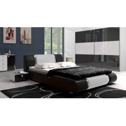 Łóżko LUXURY czarno-białe Łóżko LUXURY czarno-białe
