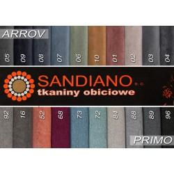 tkaniny ARROV i PRIMO łóżko SPRING
