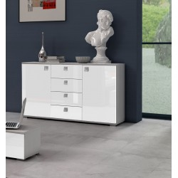 Komoda 120 cm Sypialnia AGAT biała