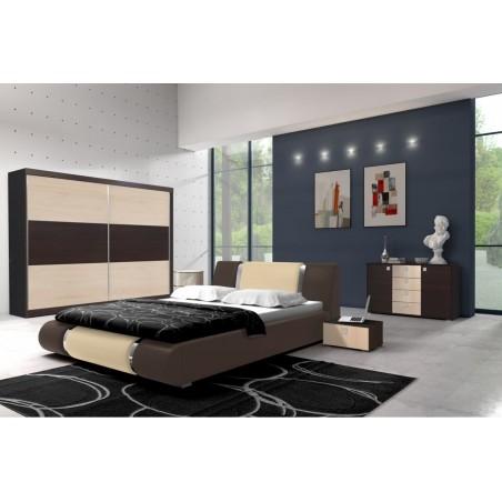 Sypialnia w kolorze wenge-klon