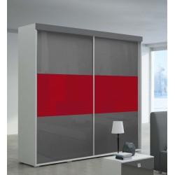 Szafa LUXURY szaro-czerwona Szafa LUXURY biała z lustrem