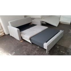 Funkcja spania i pojemnik na pościel Sofa AVANT biała eco skóra