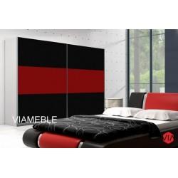 Szafa AGAT II czarno-czerwona Szafa AGAT II czarno -biała