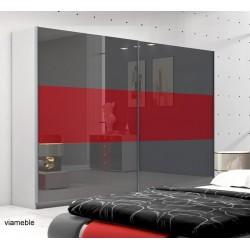 Szafa AGAT II szaro-czerwona Szafa AGAT II czarno -biała