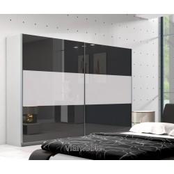 Szafa AGAT II czarno -biała