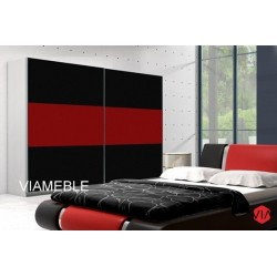 Szafa AGAT II czarno-czerwona