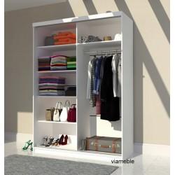 Wnętrze szafy o wszystkich szerokościach ( oprócz 230 cm ! ) Szafa AGAT II biało-fioletowa