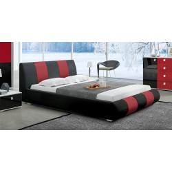 Łóżko LUXURY II czarno-czerwone