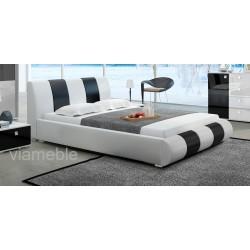 Łóżko LUXURY II biało-czarne