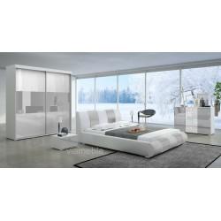 Sypialnia LUXURY II biało - jasno szarym
