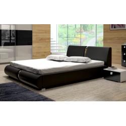 Sypialnia TOPAZ w kolorze biało-czarnym - łóżko Sypialnia TOPAZ w kolorze biało-czarnym