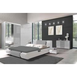 Sypialnia LUXE biało-szara