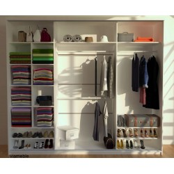 Wnętrze szafy HERA bez szuflad Szafa HERA biało- szara