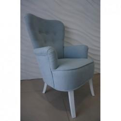 Wygodny i solidny Fotel USZAK Grafitowy Fotel uszak błękitny