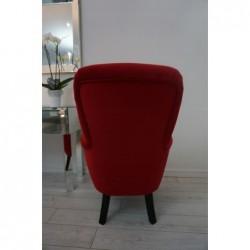 Wygodny i solidny Fotel USZAK Grafitowy Fotel USZAK czerwony
