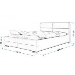 Łóżko tapicerowane TOP 3 90x200 Łóżko tapicerowane TOP 3