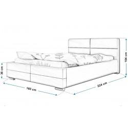 Łóżko tapicerowane TOP 3 140x200 Łóżko tapicerowane TOP 3