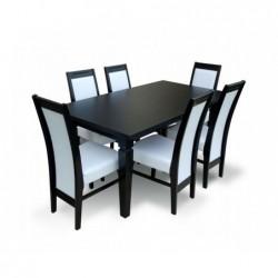 Elegancki stół z 6 krzesłami 160/90/200 CM