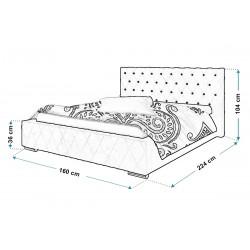 Łóżko tapicerowane TOP 4 140x200 Łóżko tapicerowane TOP 4