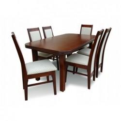 Zestaw stół z 6 krzesłami 160/90/200 CM