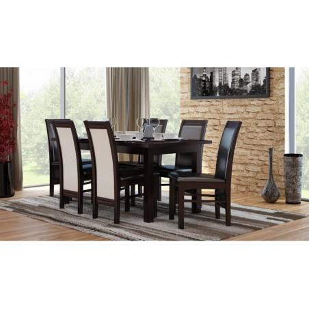 Elegancki stół z 6 krzesłami laminat 160/90/200 CM