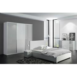 Sypialnia CLEAR szaro-biała