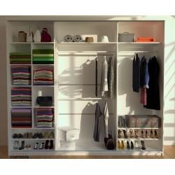 Wnętrze szafy Sypialnia CLEAR biało-czarna