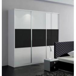 Szafa Sypialnia CLEAR biało-czarna