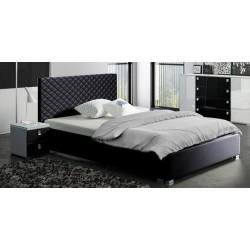 Łóżko Sypialnia CLEAR biało-czarna