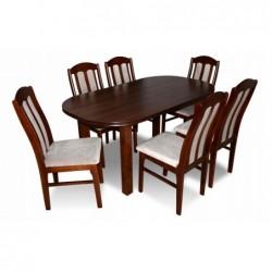 Elegancki komplet 6 krzeseł i stół 160/90/200 CM
