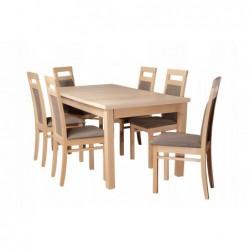 Rodzinny komplet mebli do jadalni 6 krzeseł i stół 160/90/200 CM