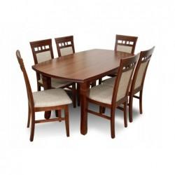 Zestaw jadalniany KOMPLET 6 krzeseł i stół 160/90/200 CM