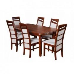 Zestaw stół z krzesłami do jadalni 160/90/200 CM