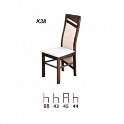 Krzesło K38 Zestaw nr.12, wybarwienie: kasztan