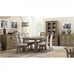 Zestaw 6 krzeseł i stół LAMINAT 160/90/200 CM