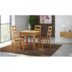 4 krzesła I stół KWADRAT 80X80CM dużo wybarwień