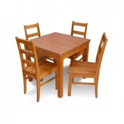 Zestaw do jadalni 4 krzesła i stół KWADRAT 80X80CM