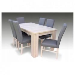 Zestaw 6 krzeseł i stół do jadalni LAMINAT 160/90/200 CM